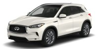 New, 2021 INFINITI QX50 LUXE FWD, White, MF107443-1