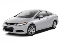 Used, 2012 Honda Civic Cpe LX, Black, AW2020110-1