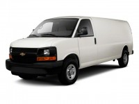 Used, 2012 Chevrolet Express Cargo Van Work Van, White, T1100887-1