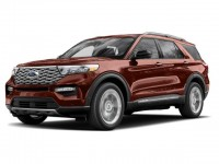 New, 2020 Ford Explorer XLT, Red, T04220-1
